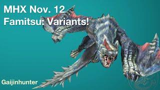 MHX: Famitsu Nov. 12 - Variants thumbnail