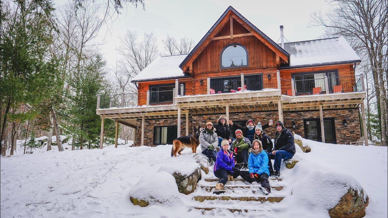 Casa De Ensueño Tour De Una Cabaña De Madera Vacaciones De Invierno En Canadá Youtube