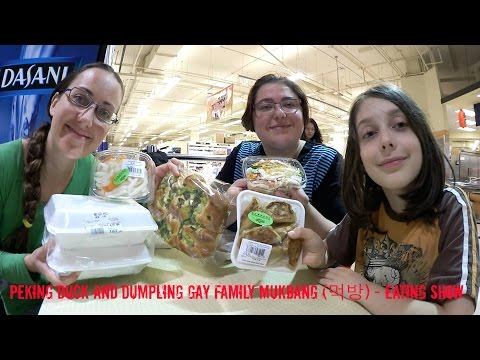Peking Duck And Dumpling | Gay Family Mukbang (먹방) - Eating Show