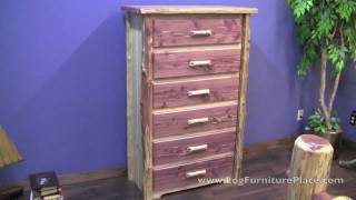 Red Cedar 6 Drawer Log Chest From Logfurnitureplace.com