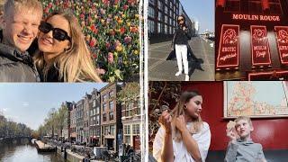 LIVING ON A BOAT, TULIPS & CHOCOLATE TASTE TESTING // AMSTERDAM VLOG PT 1   Adina May