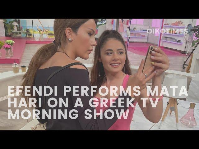 OIKOTIMES 🇦🇿 SAMIRA EFENDI PERFORMS AT TOP GREEK TV MORNING SHOW