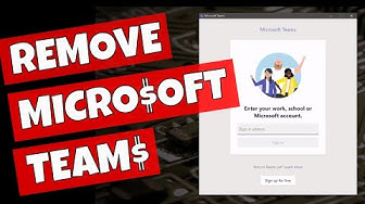 How To Remove Microsoft Teams App & Splash Screen