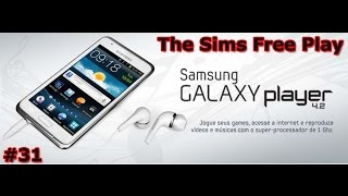 Samsung Galaxy Player 4.2 YP-GI1 Game Play - The Sims Free Play - PT-BR