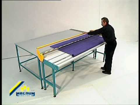 Sani USA .com Roller Shade Fabric Cutting Table