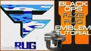 FaZe Rug Logo : Call Of Duty Black Ops 2 Emblem Tutorial