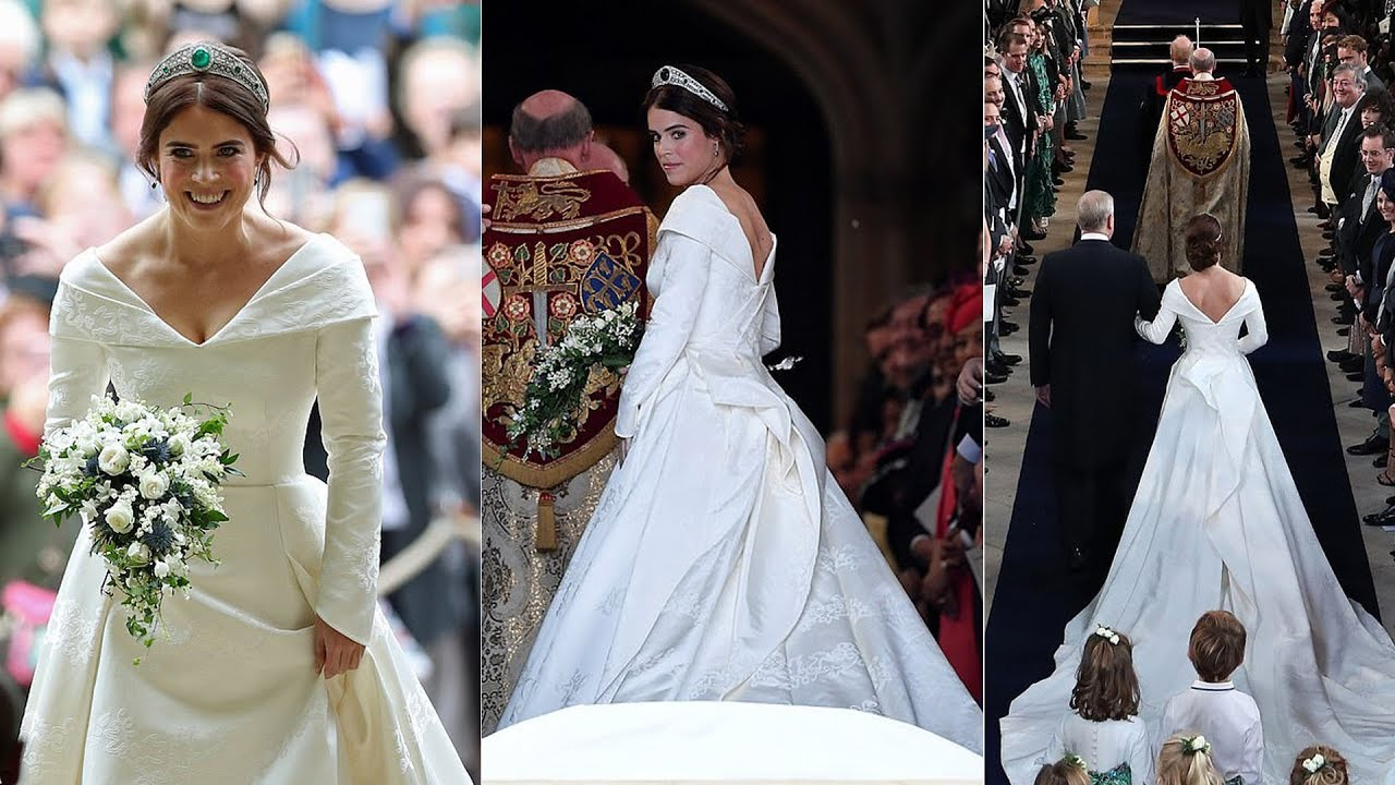 See Princess Eugenies Stunning Wedding Dress by Peter Pilotto at Her Royal Wedding