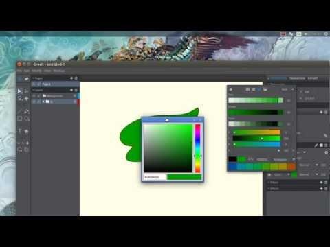 Gravit open source design tool BETA on Ubuntu 14.10