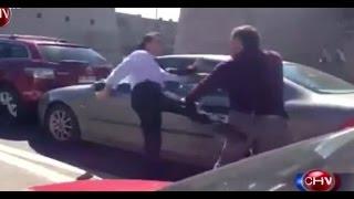 Violenta pelea de dos conductores frente a la Escuela Militar - CHV Noticias