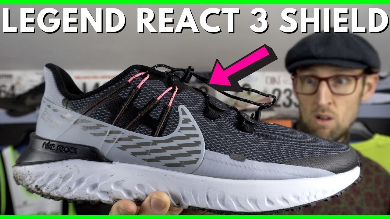 Nike Legend React 3 Shield Review   Best weatherised & water repellent winter running shoes   eddbud