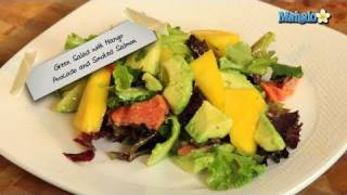 How to Make Mixed Green Salad With Avocado Mango and Smoked Salmon