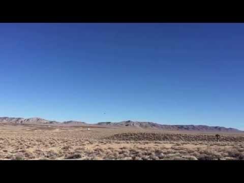 Fighter jet over the Mojave Desert