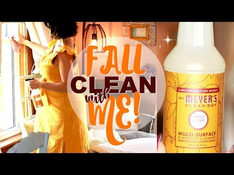 FALL 2019 CLEAN WITH ME! WEEKLY CLEANING ROUTINE FOR APPLE AUTUMN DAYS🍎