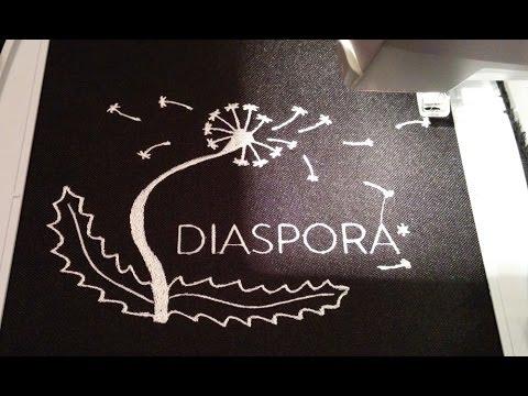 Diaspora-Ornament vollautomatisch gestickt
