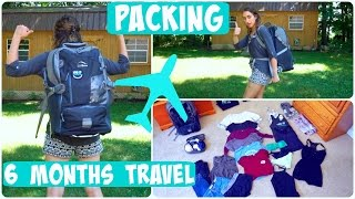 What I Am Packing For 6 Months Of Travel!