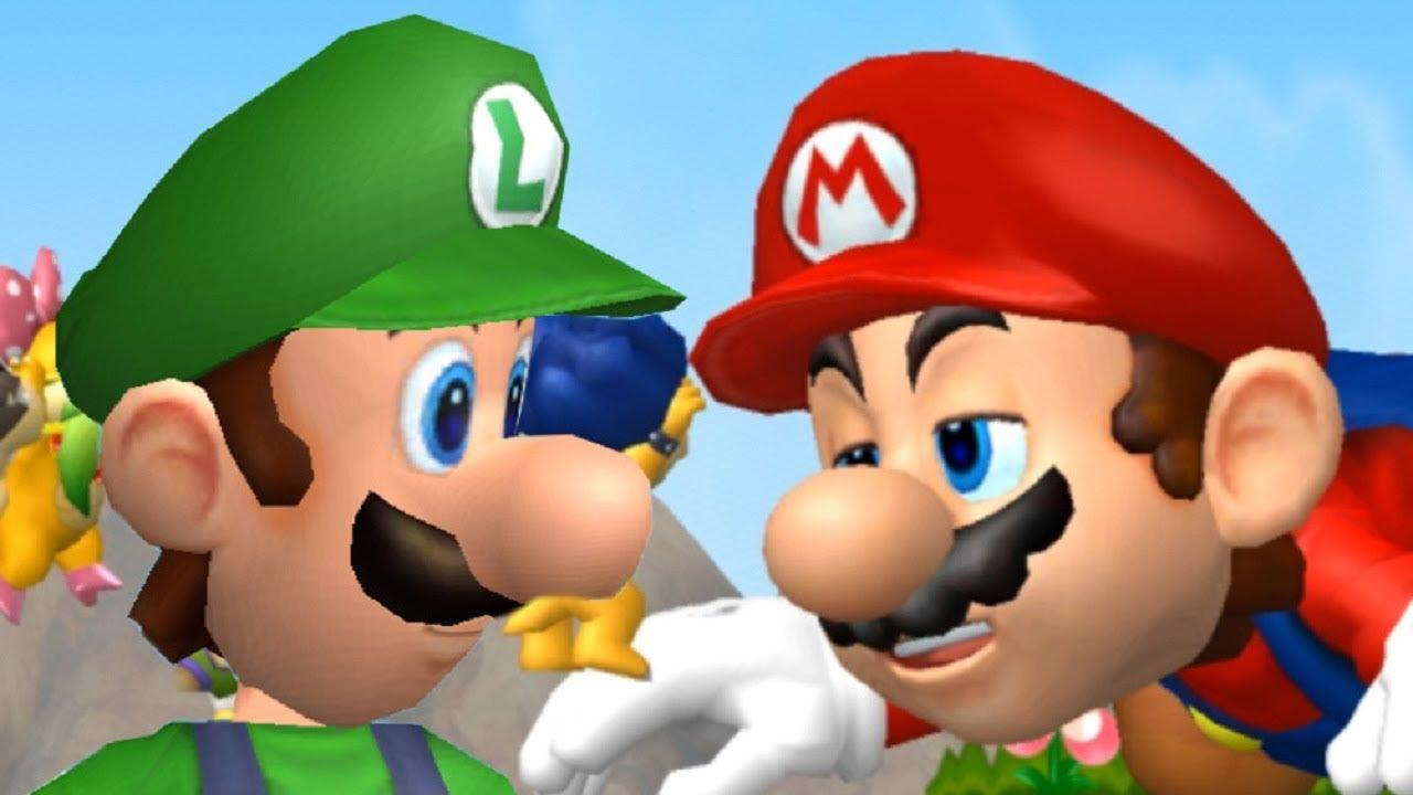 New Super Mario Bros Wii Giant Mario Vs Giant Luigi Youtube