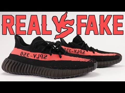Real vs Fake adidas Yeezy Boost 350 V2 Black Red Legit Check