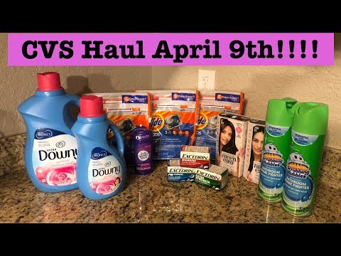 CVS Extreme Couponing Haul   April 9th  Cheap Tide Pods, Clairol, Excedrin & More!!!!