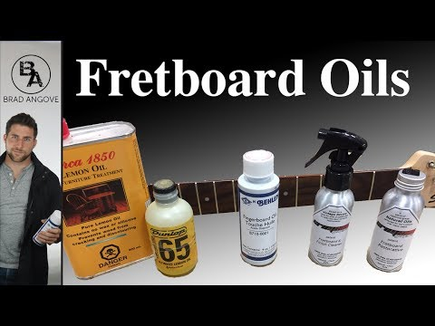 Fretboard Oil Comparison and Test