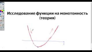 Исследование функции на монотонность с применением производной