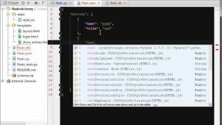 In this episode we look at the database flaskr video and replace it with our own json database, then a sqlalchemy one. starting point: https:...