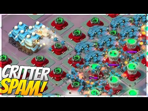 Boom Beach INSANE CRITTER CANNON SPAM!! Hundreds of Critters!