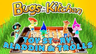 Bugs in the Kitchen Game Girls VS Boys! Toy Story 4, Aladdin & Trolls Play the Game