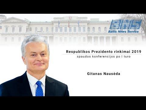 Gitanas Nausėda. Prezidento rinkimai 2019, I turas