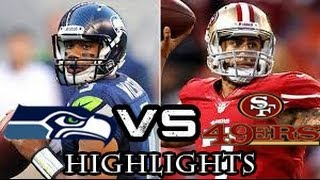 NFL Playoffs: Seattle Seahawks vs San Francisco 49ers - 2014 NFC Championship Highlights 1/19/14