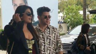 Nick Jonas and priyanka chopra snapped at hotel