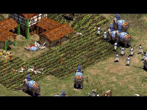 NICOV VS DAUT ATAQUE CON ELEFANTES AGE OF EMPIRES 2