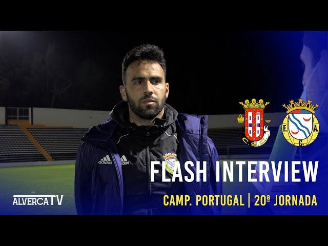 Caldas SC 1-1 FC Alverca | Flash Interview
