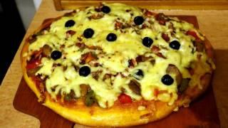 """Кулинарный релакс: """"Домашняя пицца с грибами"""""""