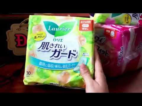 Review Băng vệ sinh laurier và unicharm của Nhật Made in Japan