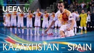 Futsal EURO highlights: Kazakhstan v Spain
