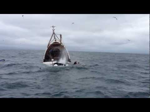 incredible video!!! prawn trawler sinks in cold Irish sea