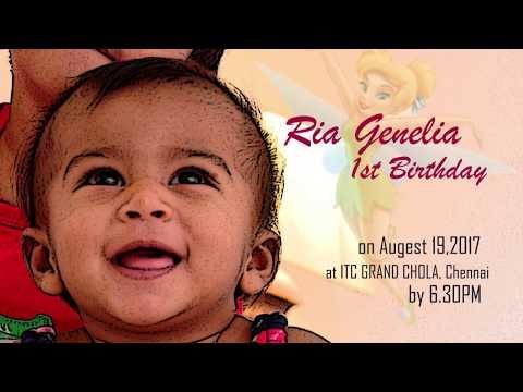Ria Birthday Invitation