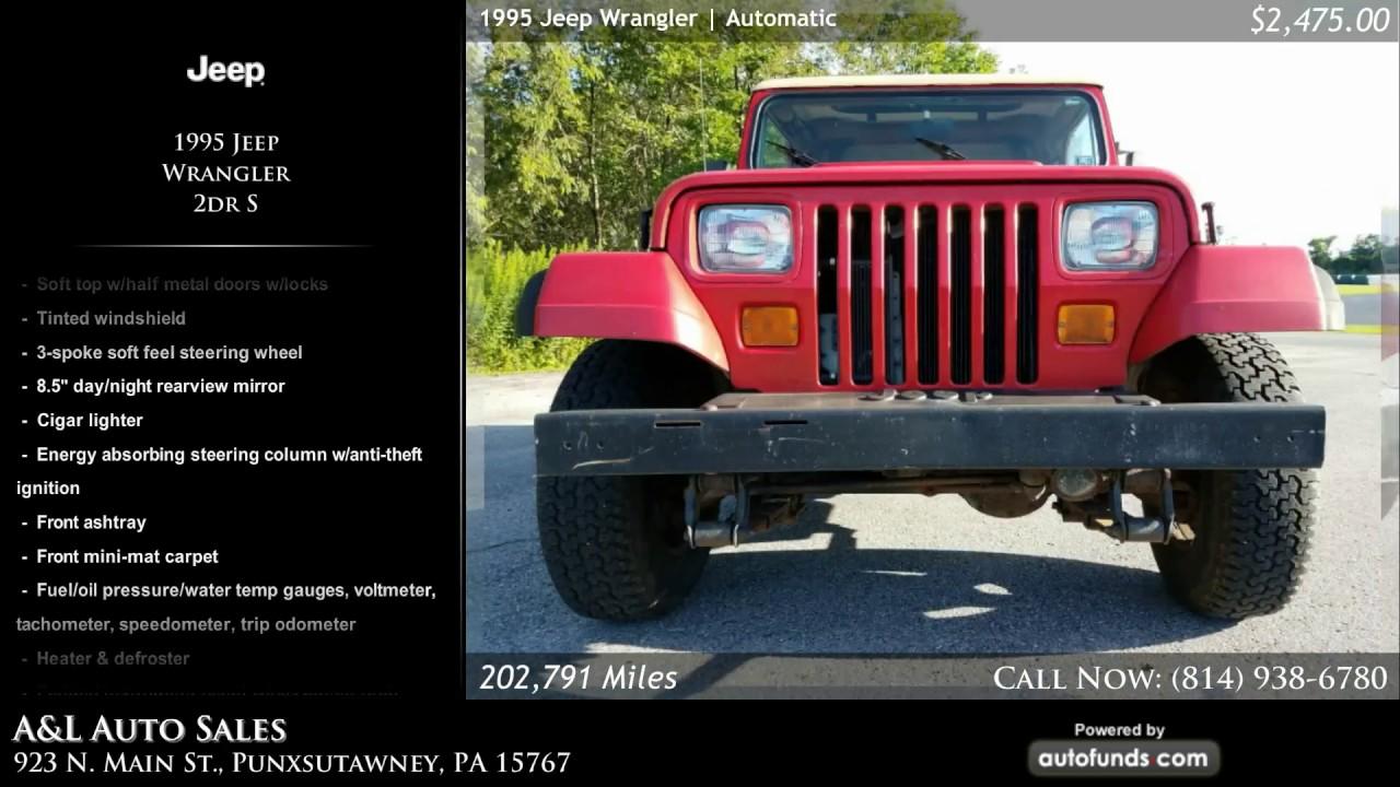 Used 1995 Jeep Wrangler | Au0026L Auto Sales, Punxsutawney, PA