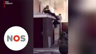 HELD: Omar helpt agent die uit brandend huis viel in Utrecht