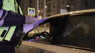 Водитель не имеющий права управления задержан ночью в Сургуте