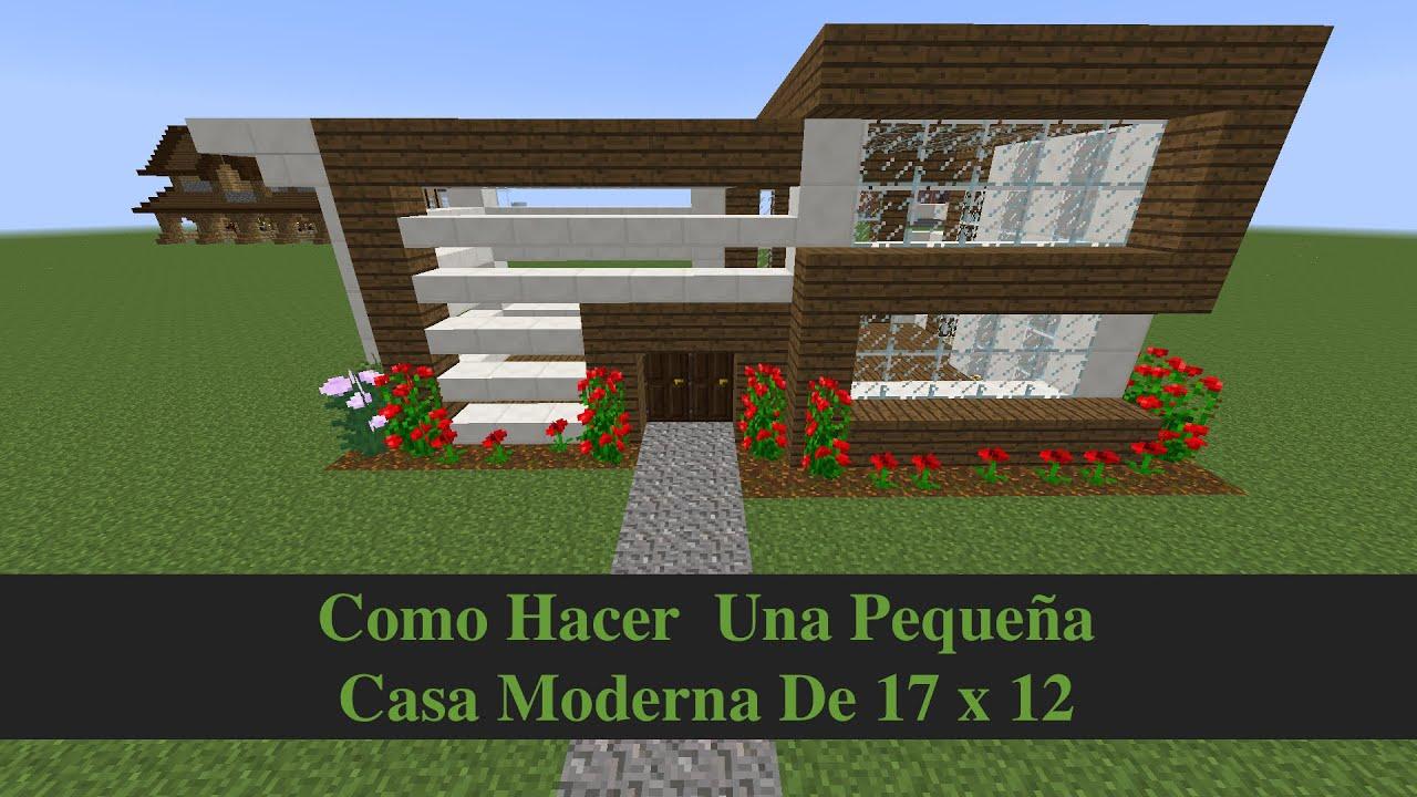 Como hacer una peque a casa moderna 17x12 youtube for Casa moderna numero 2