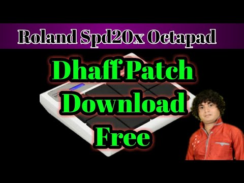 Spd20x free duff ढप,चंग patch download Roland SPD20x octapad