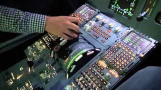 Exercice Feu moteur en simulateur d'avion de ligne (HD / Tutorial)