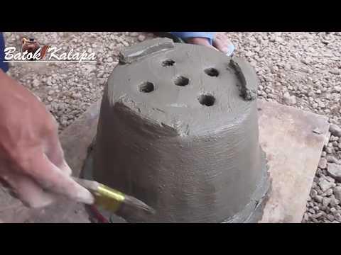 Cara Gampang Membuat POT Sederhana dari semen & pasir Eps #02