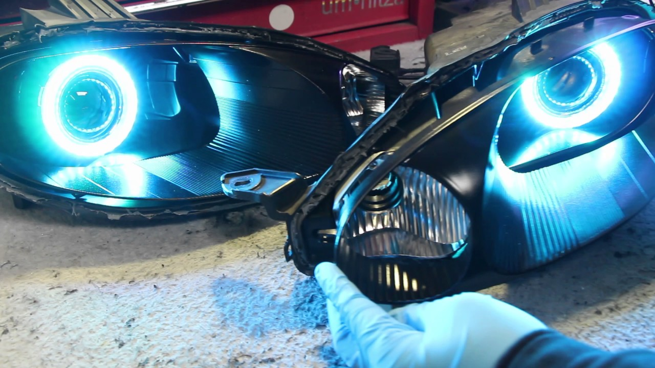 1998 2005 Mazda Miata Mx5 Nb Second Generation Retrofit Orion Led Angel Eyes Install