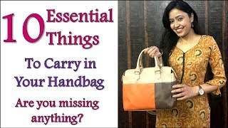 10 Essential Things To Always Carry In Your Handbag | Must Haves In Your Purse | Her Fab Way