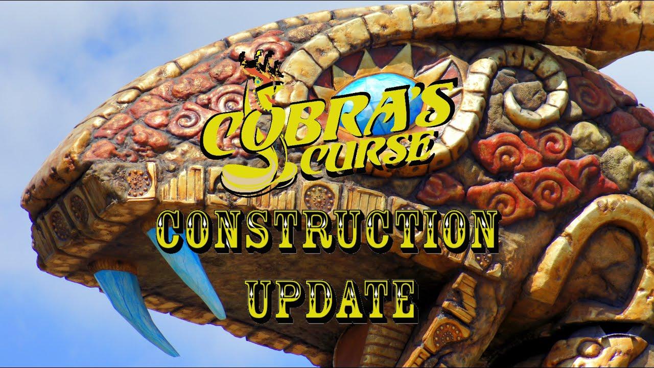 Busch Gardens Tampa Bay Cobra\'s Curse Construction Update 3.1.16 ...