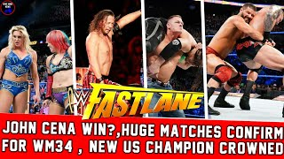 WWE Fastlane 2018 Highlights Results    Randy Orton Wins Us Title At Fastlane 2018