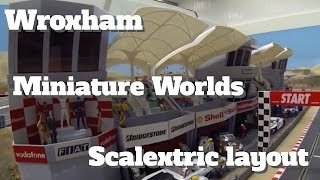 Wroxham miniature worlds scalextric layout