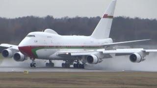 boeing 747sp landing hamburg airport oman royal flight a4o so
